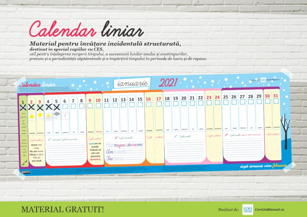 Calendar printabil 2021 copii