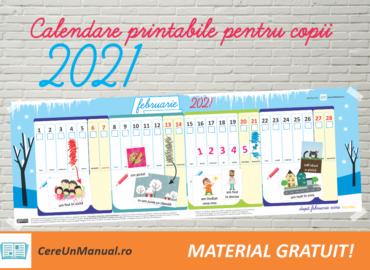 Calendar PDF printabil 2021 pentru copii, cu activități