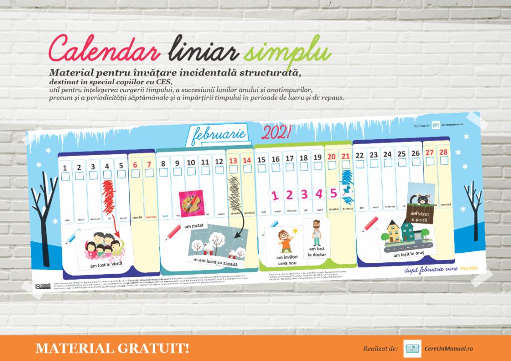 Calendar 2021 activitati copii printabil